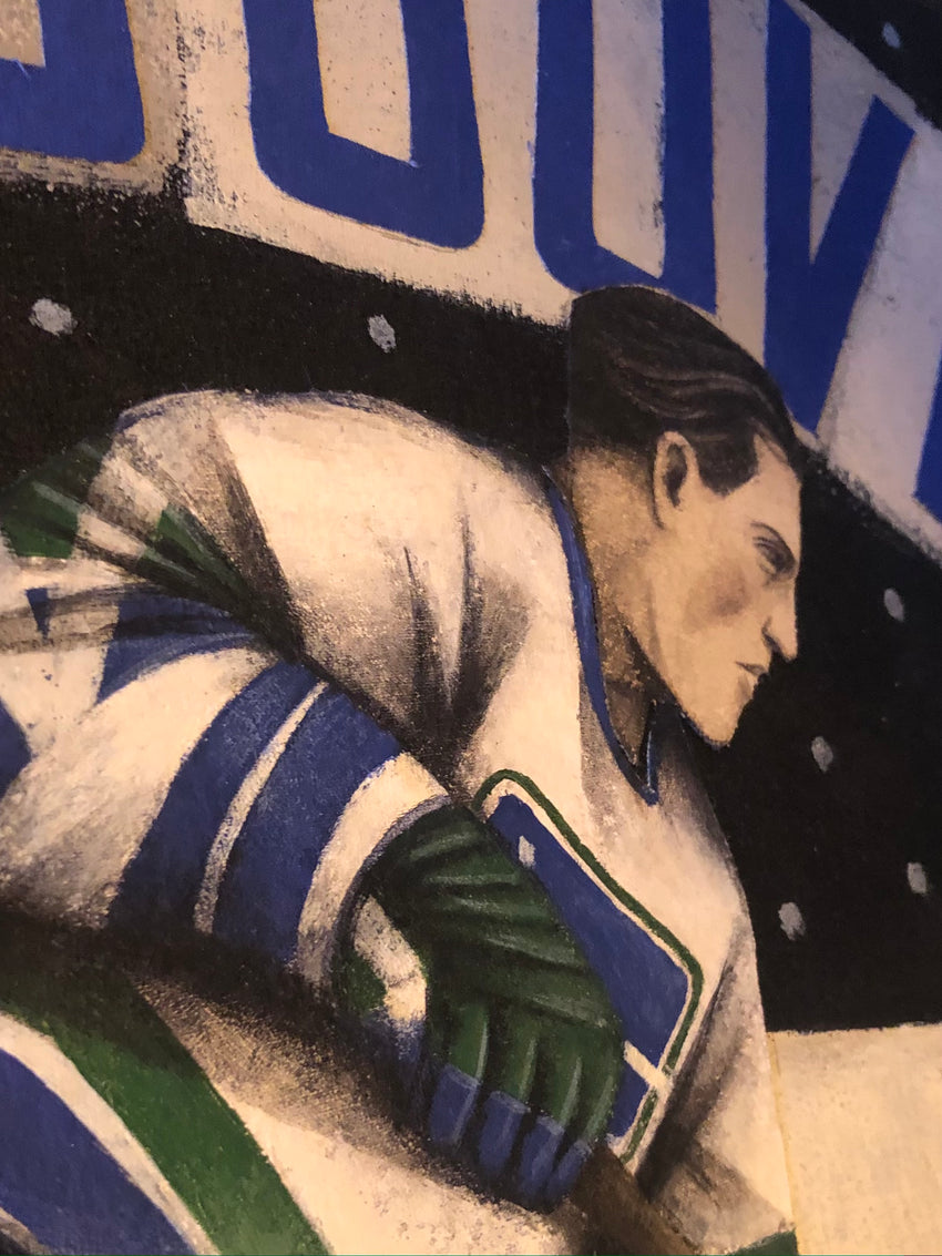 Paine Proffitt 1-of-1 Vancouver Canucks Painting