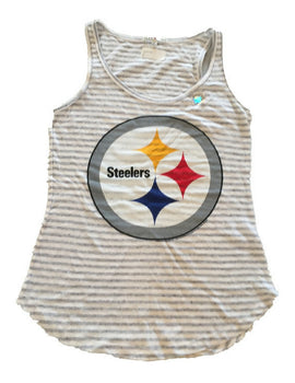 Pittsburgh Steelers Women's Sugar Grey Tank