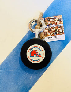 Quebec Nordiques Authentic NHL Official Game Hockey Puck Bottle Opener