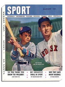 August 1947 SPORT Cover (Ted Williams, Boston Red Sox)