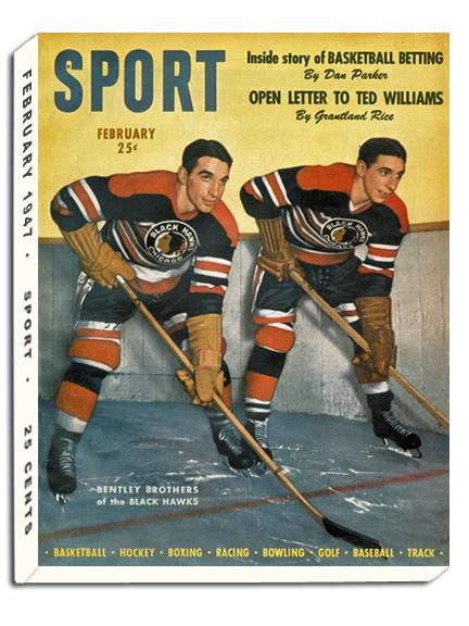 February 1947 SPORT Cover (Max and Doug Bentley, Chicago Blackhawks)