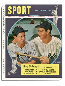 September 1947 SPORT Cover (Joe and Dom DiMaggio, New York Yankees, Boston Red Sox)