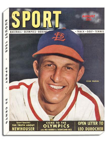 August 1948 SPORT Cover (Stan Musial, St. Louis Cardinals)
