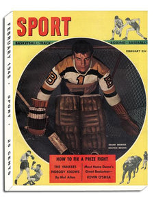 February 1948 SPORT Cover (Frank Brimsek, Boston Bruins)