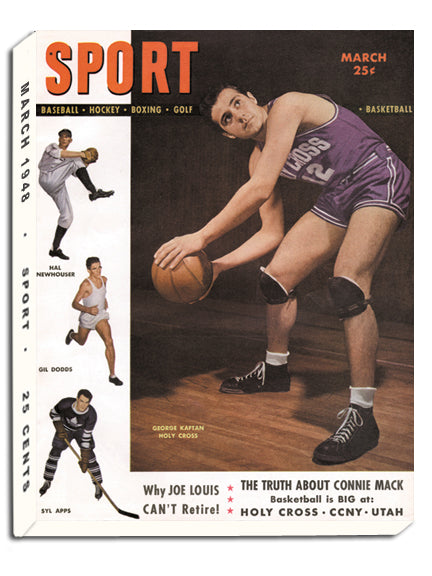 March 1948 Sport Cover(George Kaftan, Holy Cross, Syl Apps, Toronto Maple Leafs)