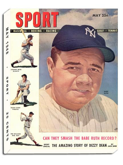 May 1948 SPORT Cover (Babe Ruth, New York Yankees)