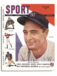 October 1948 SPORT Cover (Lou Gehrig, New York Yankees)