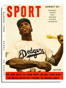 August 1949 SPORT Cover (Jackie Robinson, Brooklyn Dodgers)