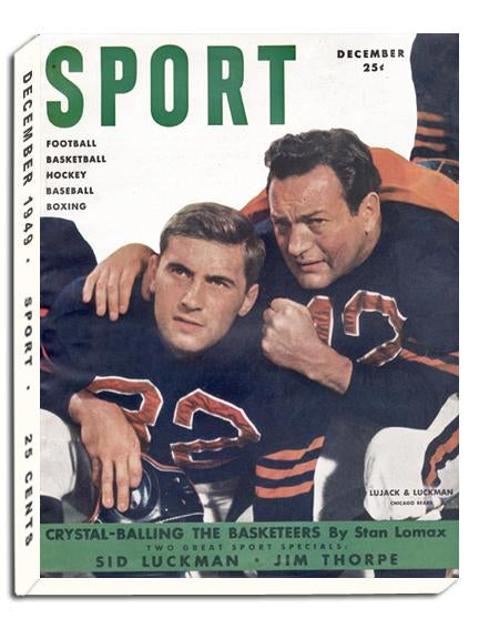 December 1949 SPORT Cover (Johnny Lujack, Sid Luckman, Chicago Bears)