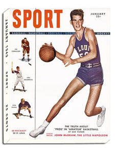 January 1949 SPORT Cover (Ed Macauley, Saint Louis University)