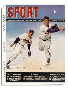 July 1949 SPORT Cover (Lou Boudreau, Joe Gordon, Cleveland Indians)