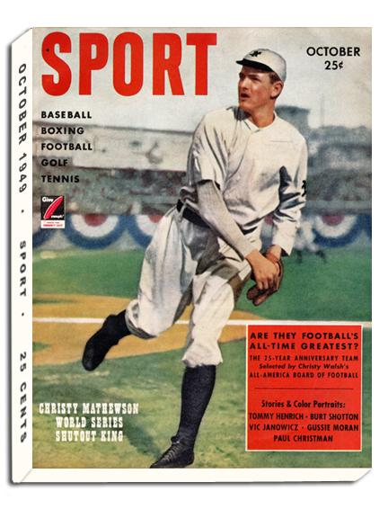 October 1949 SPORT Cover (Christy Mathewson, New York Giants)