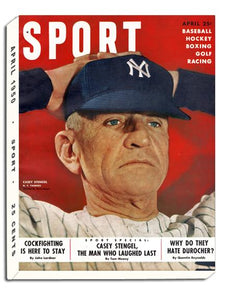 April 1950 SPORT Cover (Casey Stengel, New York Yankees)