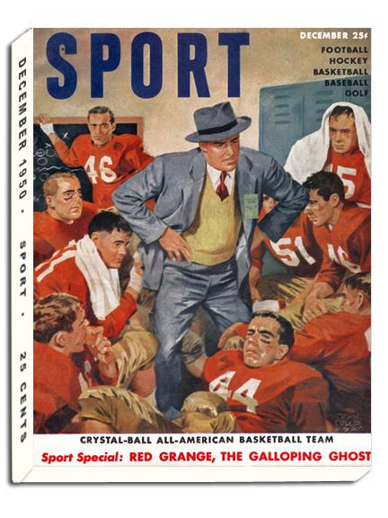 December 1950 SPORT Cover (Football Illustration)