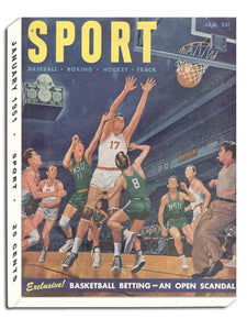 January 1951 SPORT Cover (College Basketball Illustration)