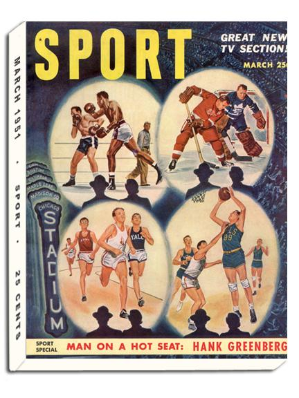March 1951 SPORT Cover (Sports Illustration)
