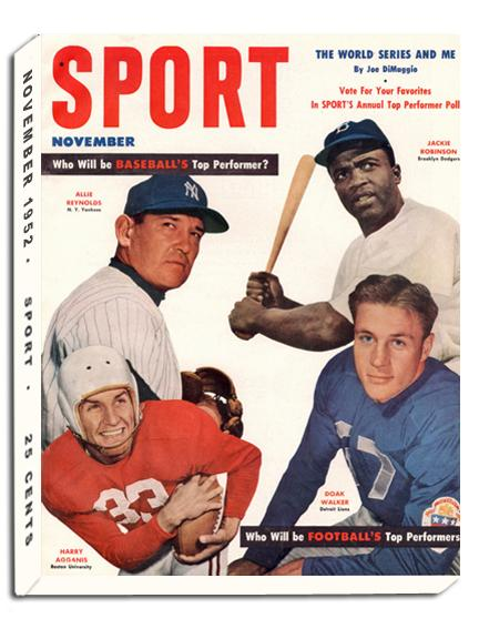 November 1952 SPORT Cover (Jackie Robinson, Brooklyn Dodgers, Doak Walker, Detroit Lions)