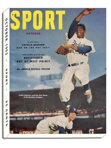 October 1952 SPORT Cover (Jackie Robinson, Pee Wee Reese, Brooklyn Dodgers)