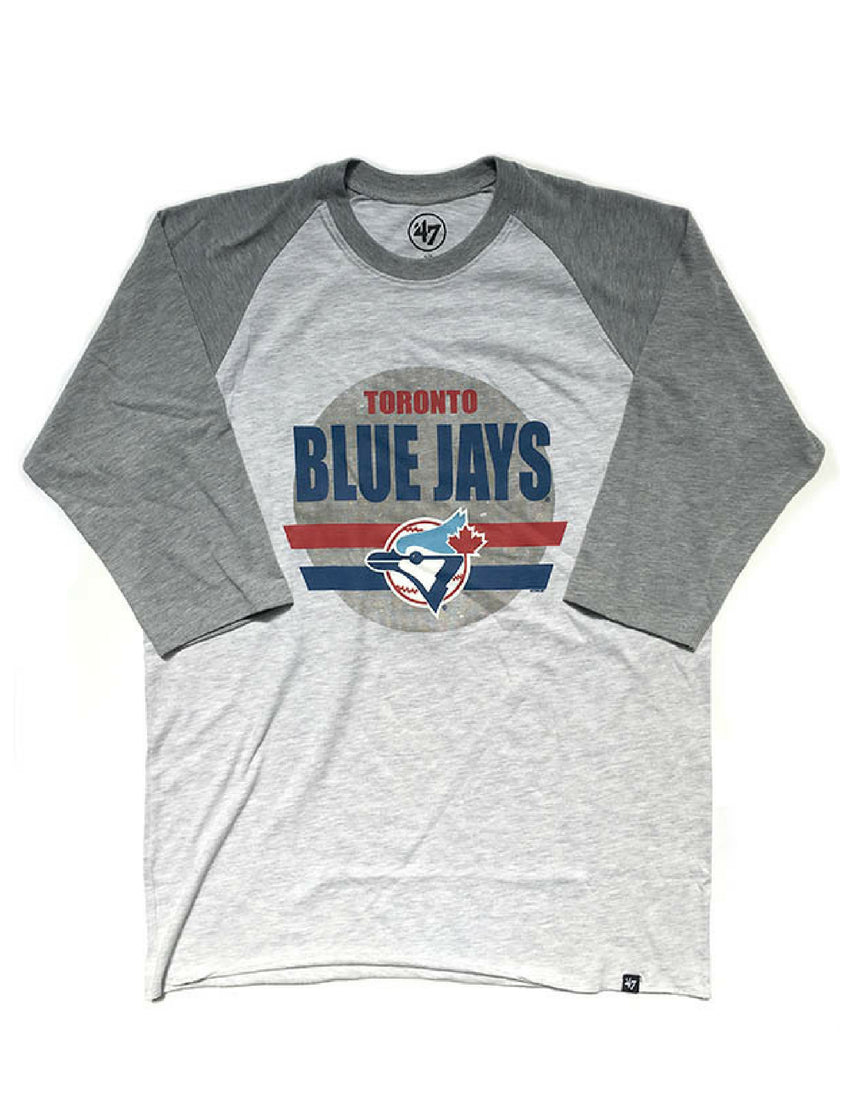 Toronto Blue Jays (Grey) Stadium Raglan Long Sleeve
