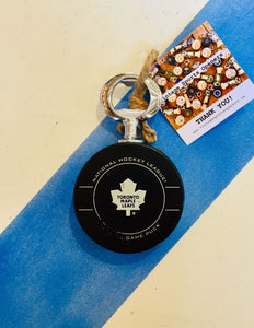 Toronto Maple Leafs Authentic Official NHL Game-Used Hockey Puck Bottle Opener