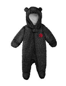 Toronto Raptors Game Time Teddy Fleece Bunting Onesie