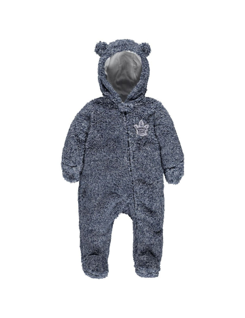 Toronto Maple Leafs Game Time Teddy Fleece Bunting Onesie