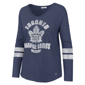 Toronto Maple Leafs Womens Courtside Long Sleeve (Navy)