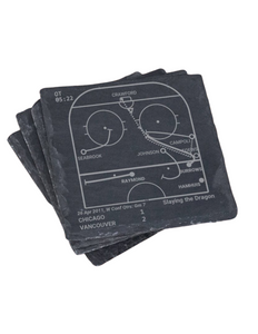 Vancouver Canucks Greatest Plays in Sports Coasters