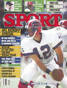 October 1987 Sport Cover (Jim Kelly, Buffalo Bills)