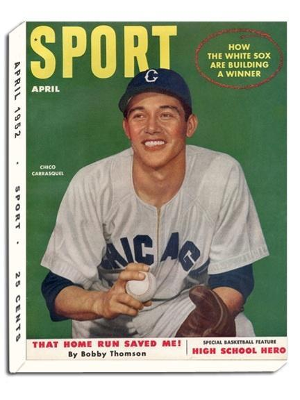 April 1952 Sport Cover (Chico Carrasquel, Chicago White Sox)