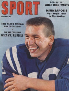 December 1959 Sport Cover (Johnny Unitas, Baltimore Colts)