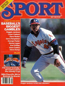 May 1982 Sport Cover (Reggie Jackson, Anaheim Angels)