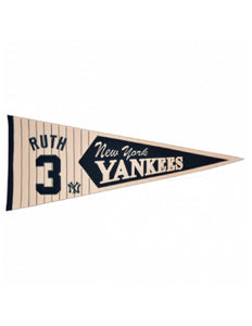 Babe Ruth New York Yankees Wool Pennant
