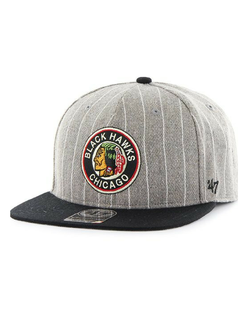 Chicago Blackhawks Gray Holbrook Captain Hat