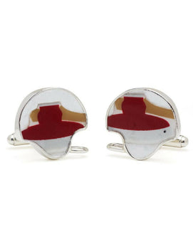 Stanford University Game-Used Football Helmet Cuff Links