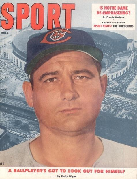 June 1957 Sport Cover (Early Wynn, Cleveland Indians)