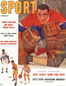 February 1957 Sport Cover (Jacques Plante, Montreal Canadiens)