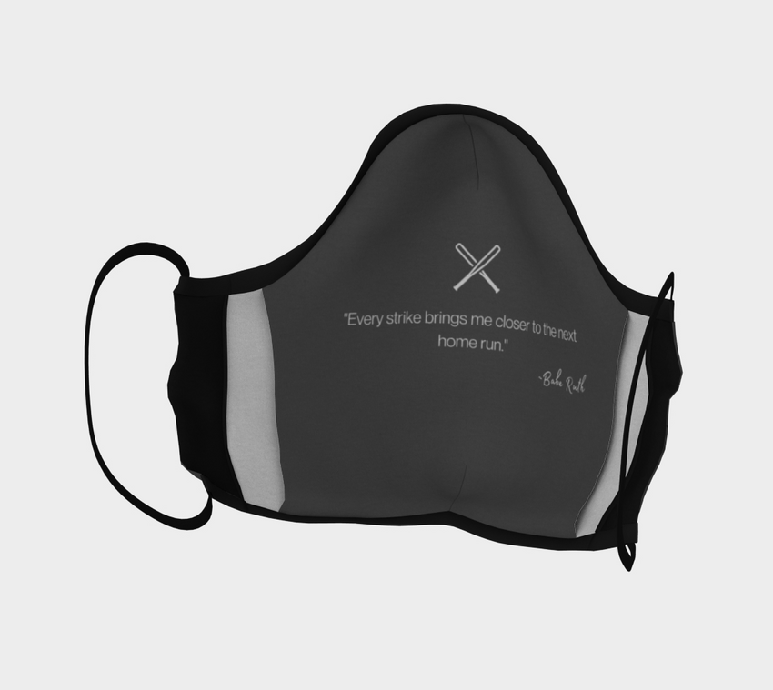 Baseball Face Mask with Filter Pocket