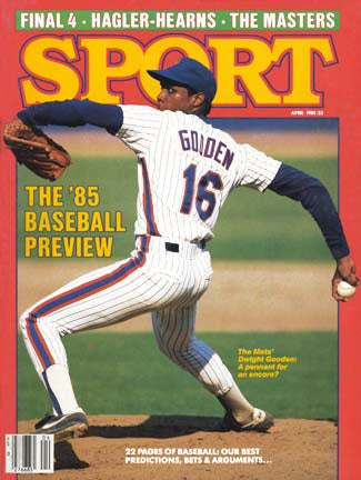 April 1985 Sport Cover (Dwight Gooden, New York Mets)