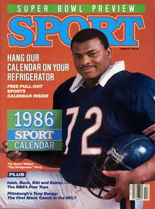 February 1986 Sport Cover (William Perry, Chicago Bears)