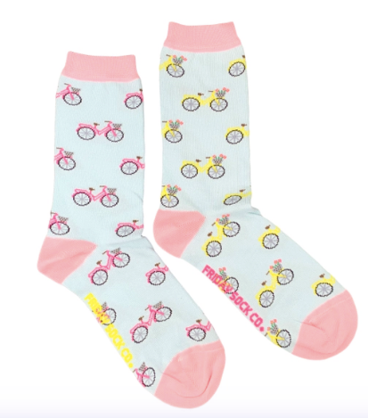 Bicycle Womens Purposely Mismatched Friday Socks