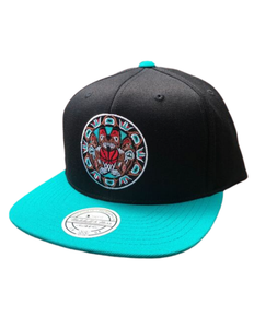 Vancouver Grizzlies Black/Teal Alternate Logo Hat