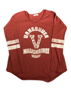 Vancouver Millionaires Letter Courtside Women's Tee