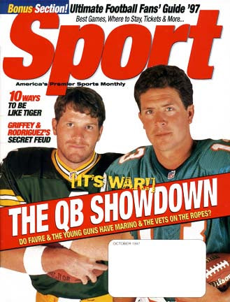 October 1997 Sport Cover (Brett Favre, Green Bay Packers, Dan Marino of the Miami Dolphins)