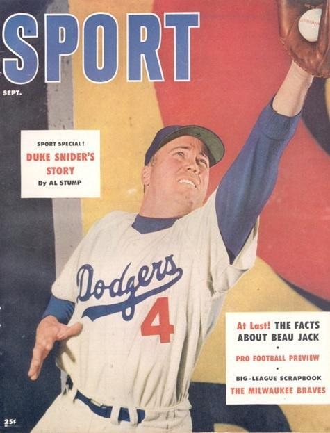 September 1955 Sport Cover (Duke Snider, Brooklyn Dodgers)