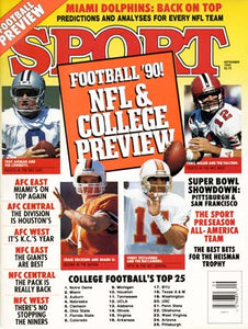 September 1990 Sport Cover (Troy Aikman of the Dallas Cowboys and Chris Miller of the Atlanta Falcons)