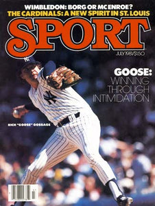July 1981 Sport Cover (Goose Gossage, New York Yankees)