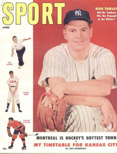 April 1955 Sport Cover (Bob Turley, New York Yankees)