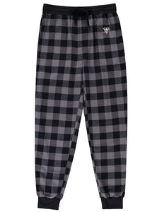 Pittsburgh Penguins (Black Plaid) Men's Woven Pyjama Pants