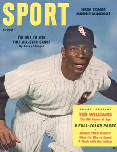 August 1954 Sport Cover (Minnie Minoso, Chicago White Sox)